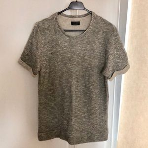 "Zara ""knitted"" t-shirt size medium"